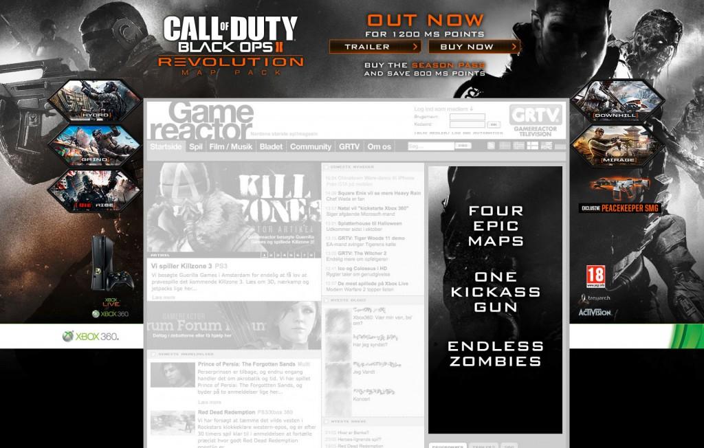 COD: BO2 - DLC1 digital advertising