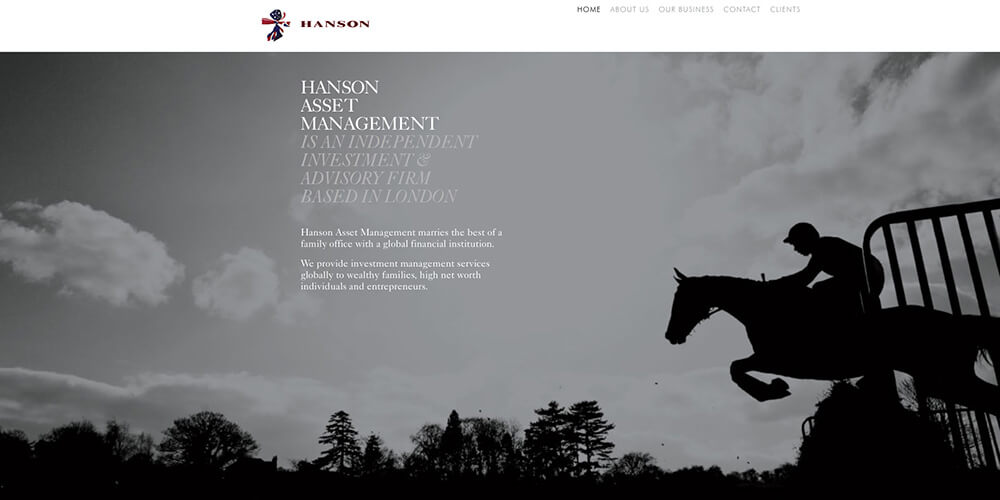 Hanson Asset Management website
