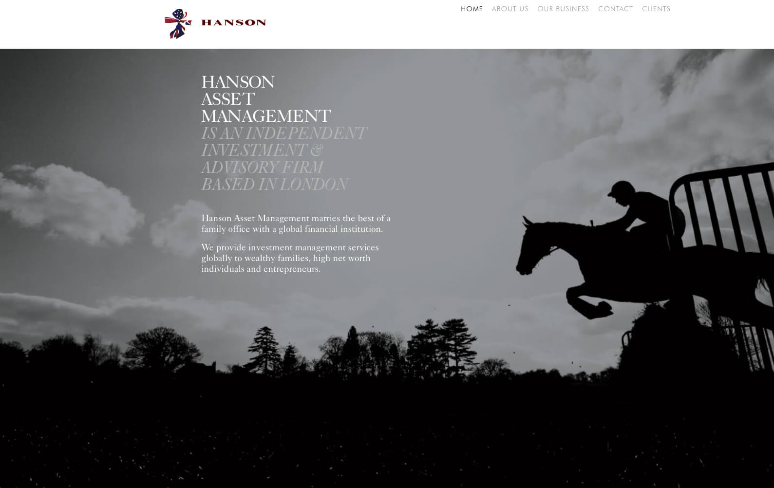 Hanson Asset Management website design