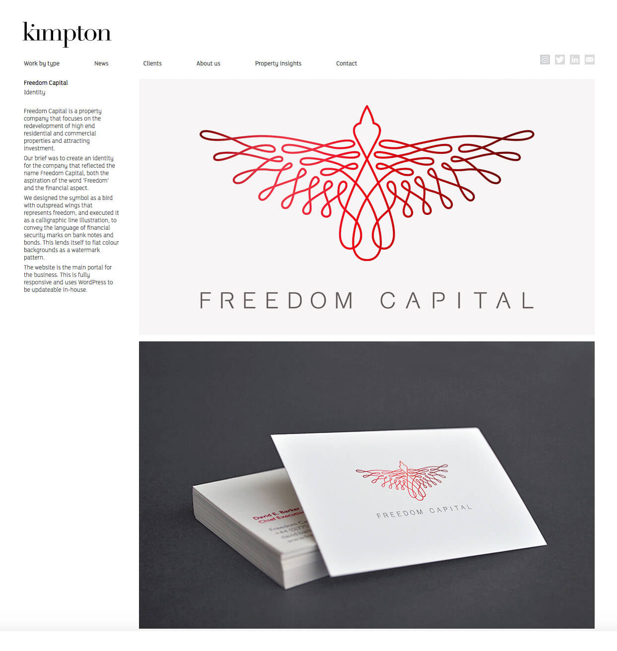 Kimpton Creative website design