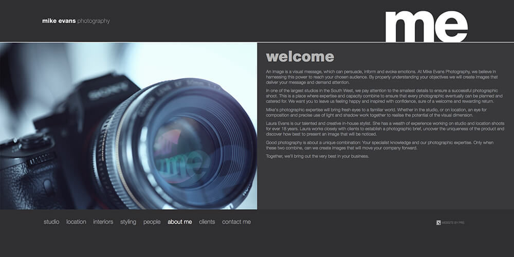 Mike Evans Photography website