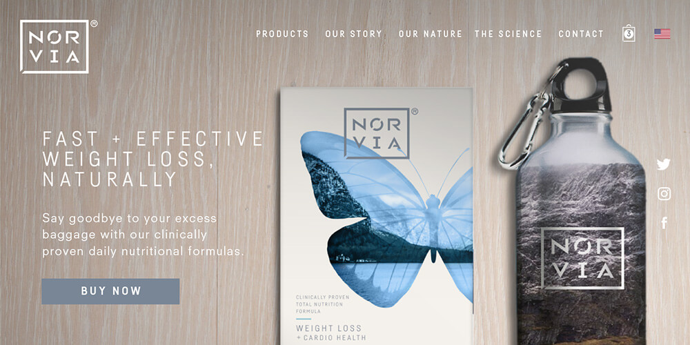 Norvia website