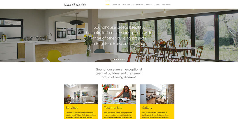 Soundhouse Loft Conversions website