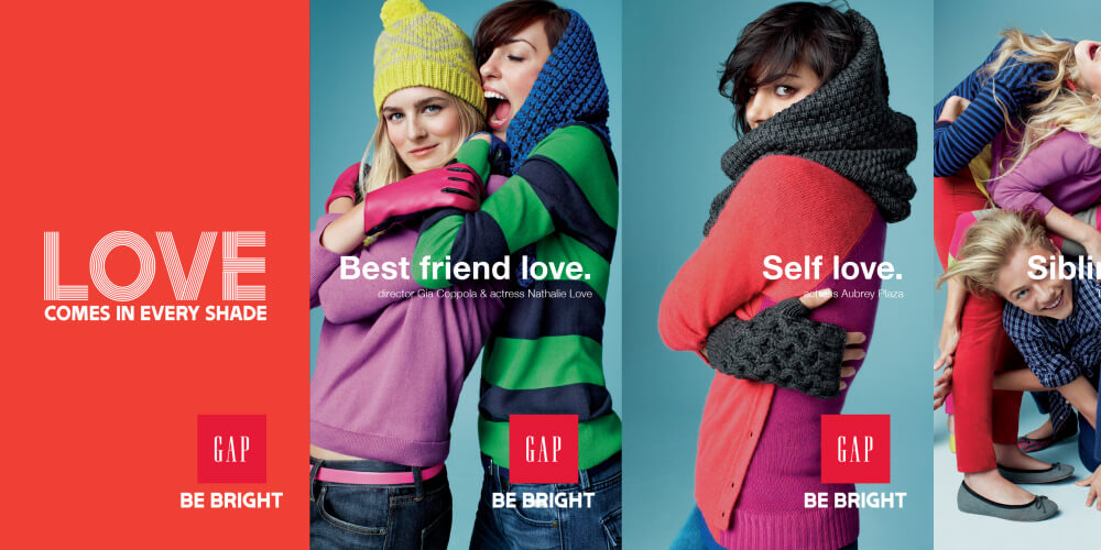 GAP Be Bright digital ads