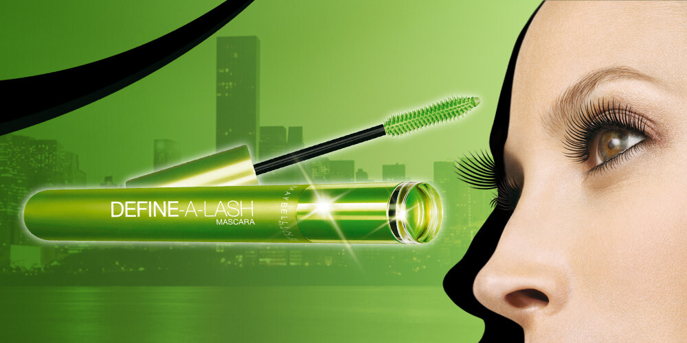 Maybelline Define-a-lash digital ads