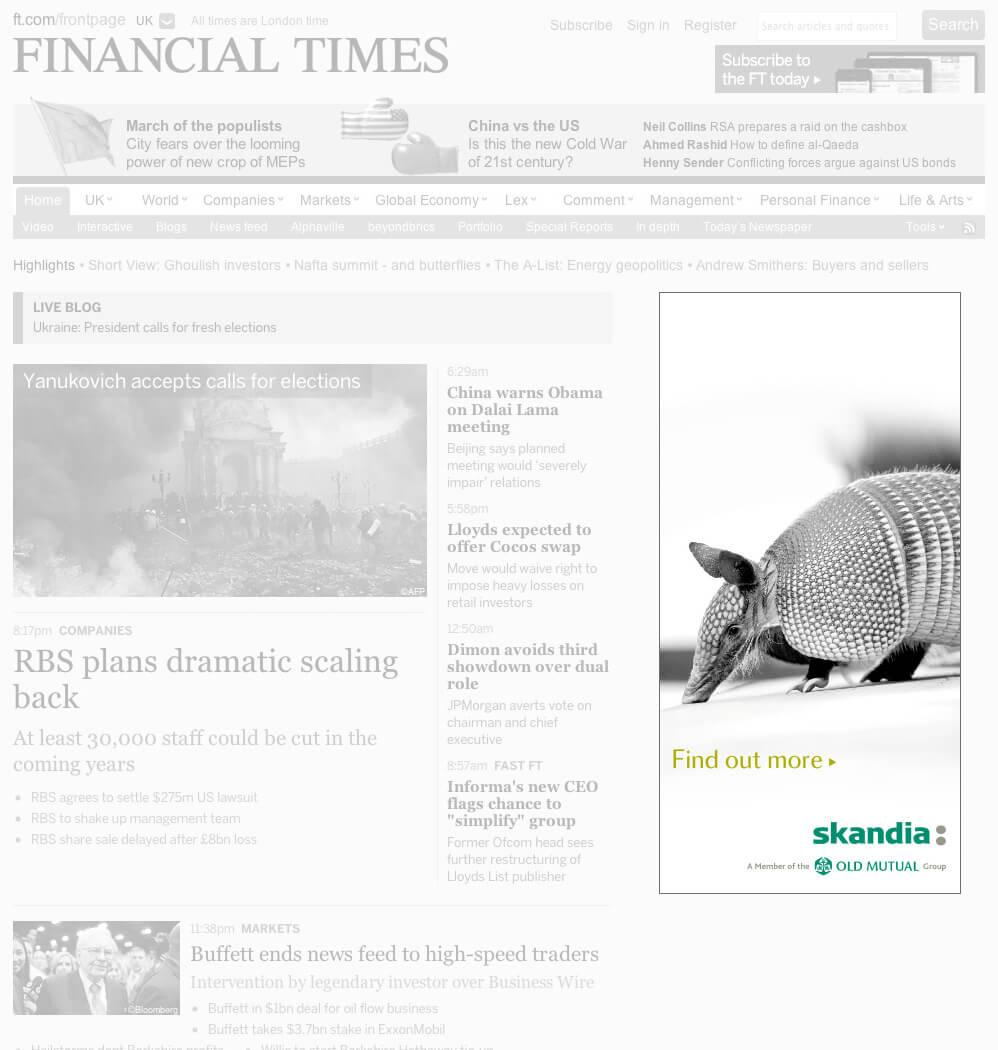 Skandia Pensions banner ad